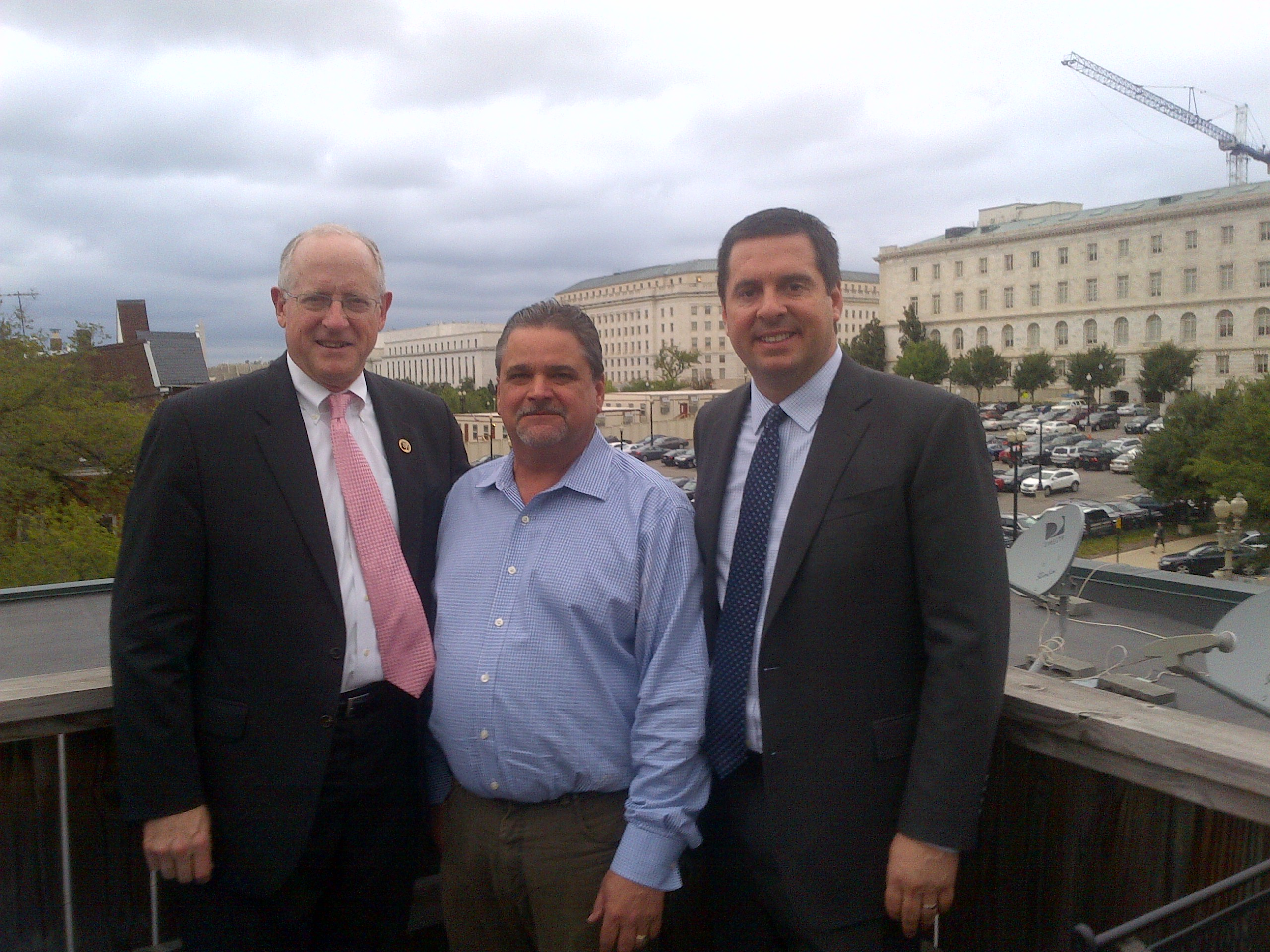 Former Resources Chairman and Gavel Resources Partner Richard Pombo hosts Chairman Conaway and Chairman Nunes on the Gavel deck.